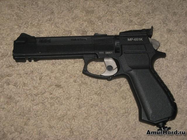 пневматический пистолет мр-651к левый борт