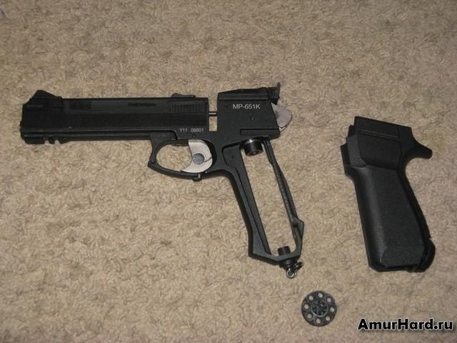 пневматический пистолет корнет неполная разборка